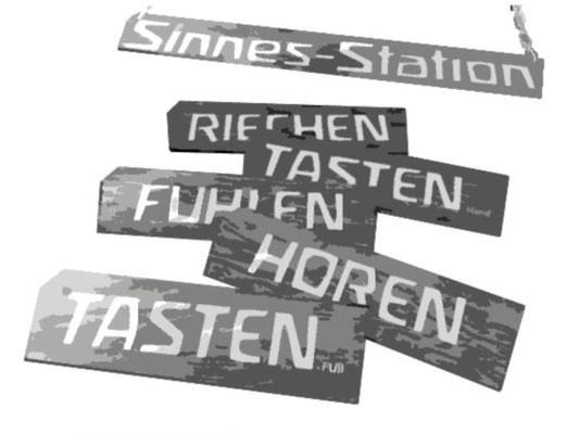 sinnesstaation - schilder