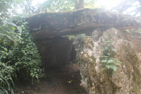 Dolmen dit Le Pavé de Saint-Lazare (L'Île Bouchard) nous remercions la propriétaire des lieux pour son accueil.