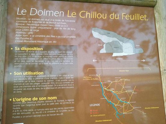 Dolmen dit le Chillou-du-Feuillet (Descartes)
