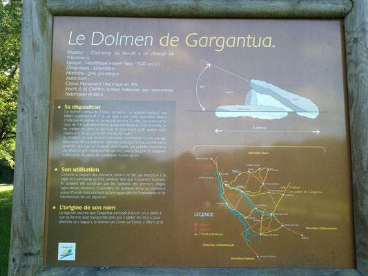 Dolmen dit les Palets-de-Gargantua (Charnizay)