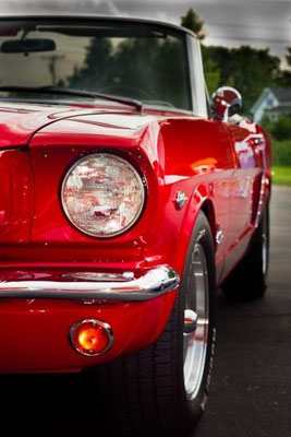 Mustang convertible 1964, Candy Apple Red