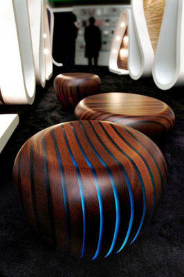 Bright Woods Collection Light Up LED Stools/Coffee Tables.