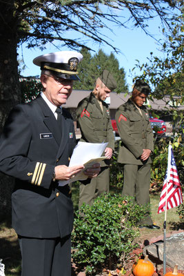 Benediction given by Chaplain Lieutenant Commander, USN (Ret) Robert Lancia
