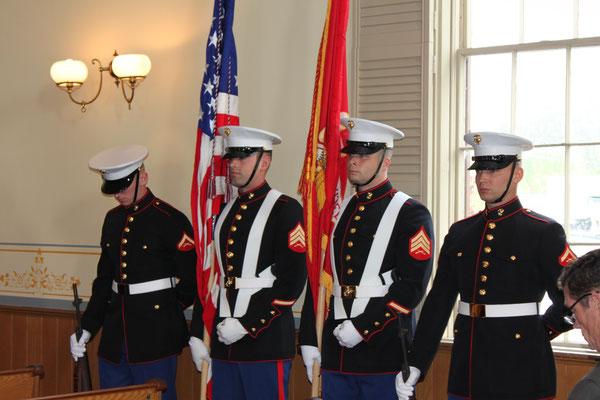 Sergeant Cody Shambaugh, Sergeant Jerimiah Hall, Lance Corporal Samuel Bolwerk, Lance Corporal Joshua Hilliard