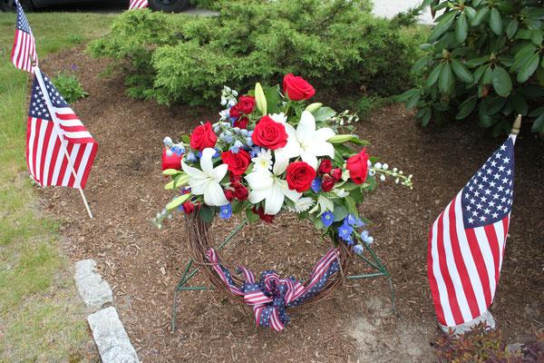 Wreath by Carlone's Florist.  Photograph taken by Carolyn