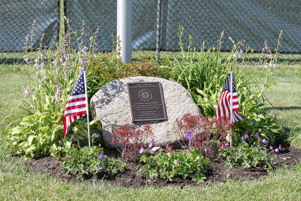 Sgt. Donald H. Sisson Monument at Portsmouth High School