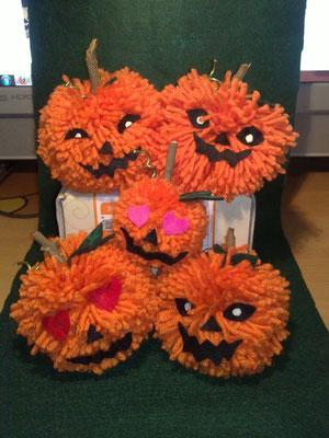 Zucche di Halloween - In lana e pannolenci 5*/8*