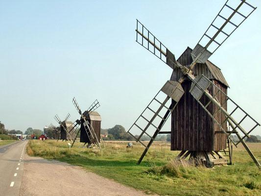 Die 5 Windmühlen von Lerkaka (Öland / Schweden)