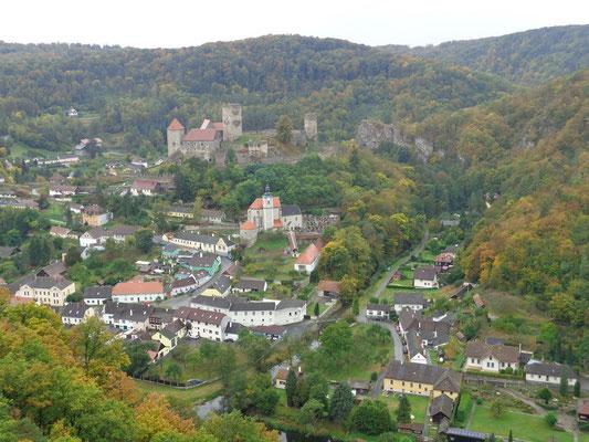 Die Stadt Hardegg in Österreich