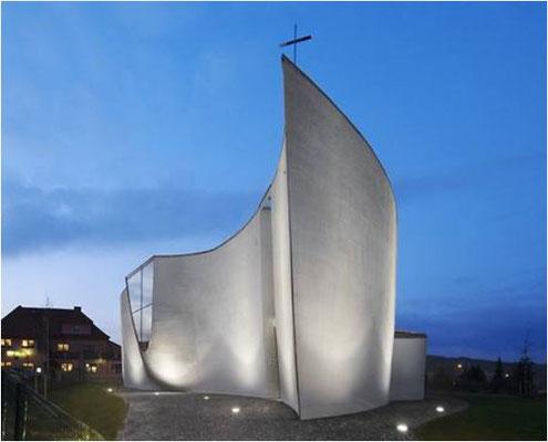 Die Kirche der Brüdergemeinde in Cernosice bei Prag