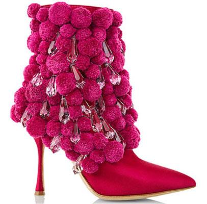 Design Schuhe von Monolo Blahnik mit Kristall Anhänger von Preciosa