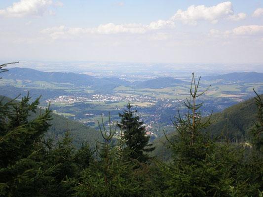 Ein Blick ins Tal - Frenštát und Rožnov pod Radhoštěm