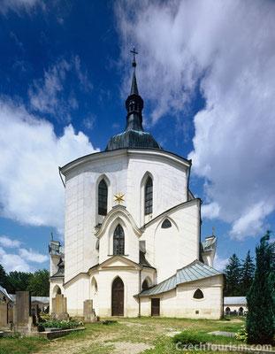 Saar - Die Kirche st.Johanes von Nepomuk