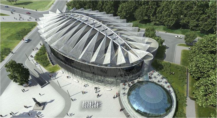 Kongresshalle in Zlin Tschechien