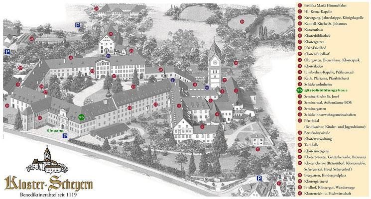 Klostergelände Scheyern biographisches Schreiben