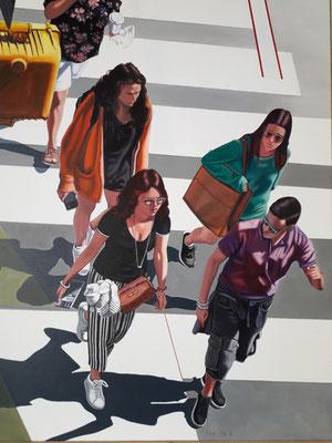 New York Acryl Leinen 100×80 cm