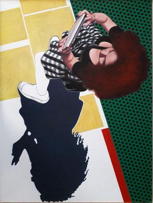 Mädchen Acryl Leinen  80×60 cm