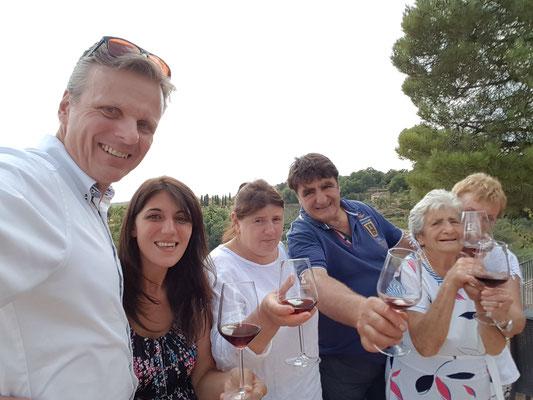 Een warm welkom door de familie Tornesi op een warme augustusmiddag voor lunch