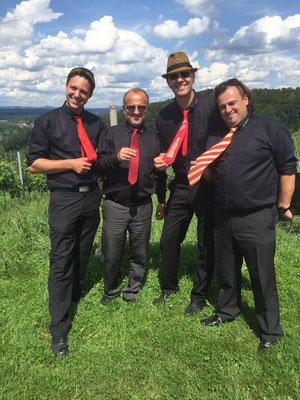 Vier unserer fünf feschen Männer :)