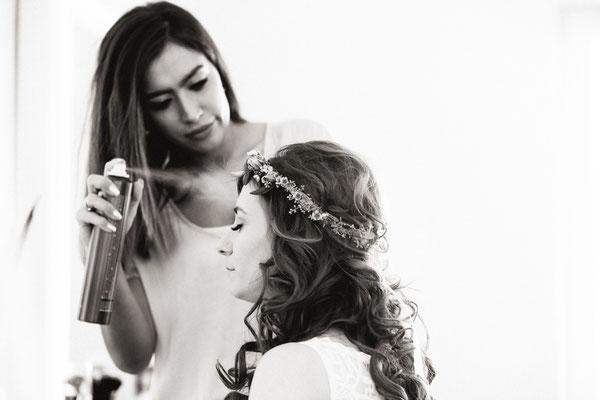Hochzeit, Heirat, Lachen, Braut, Styling, Mehlfeld Hochzeitsstylist