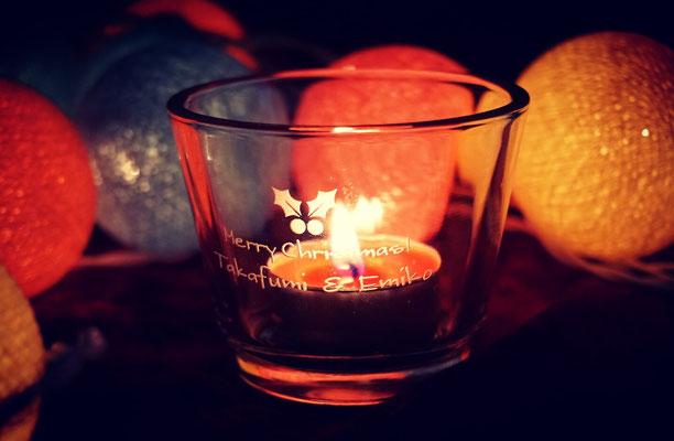 キャンドルグラス 名入れ お祝い 格安 製作 オーダーメイド ノベルティ 販促 ロゴ入れ