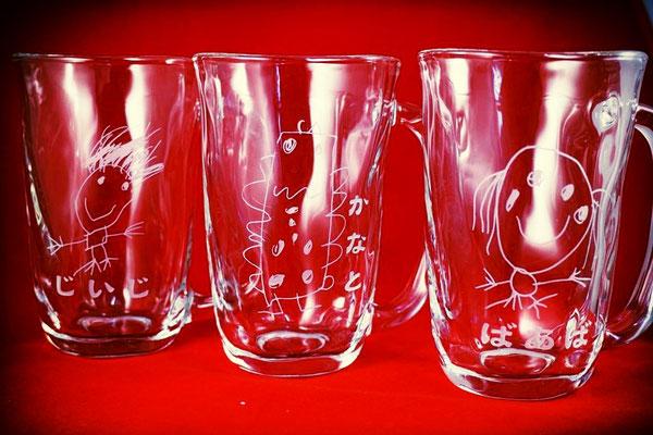 お子さんが描いた そのまま オリジナル グラス 敬老の日 還暦祝い 製作 格安 オーダーメイド ジョッキ