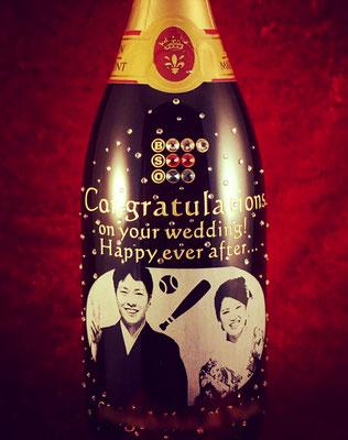 オリジナル シャンパン 結婚祝い マグナムボトル ワイン オーダーメイド