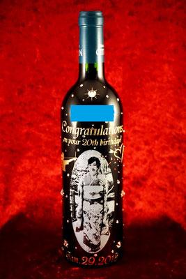 生まれ年 ワイン オリジナル ボトル お祝い サプライズ ギフト 写真 名前 ヴィンテージ ロゴ 成人 名入れ 製作 格安