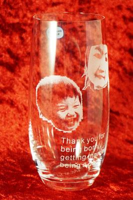 写真 花瓶 名前 名入れ オリジナル グラス プレゼント おしゃれ 格安 東京 ロゴ ノベルティ 販促 ギフト 酒 ワイン 刻印 彫刻