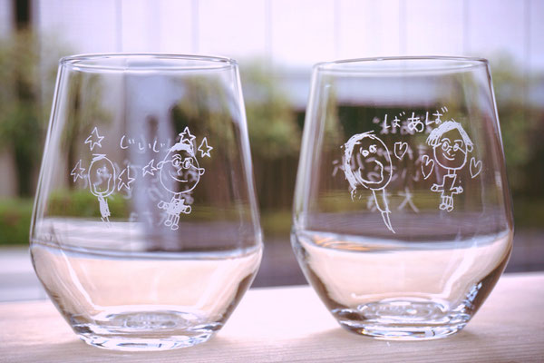 子供が描いた そのまま 敬老の日 還暦祝い 製作 格安 オーダーメイド オリジナル グラス ジョッキ 父の日 母の日