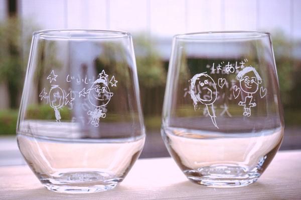 子供が描いた イラスト 絵 そのまま 敬老の日 還暦祝い 製作 格安 オーダーメイド オリジナル グラス ジョッキ 父の日 母の日 名前 お祝い オーダー