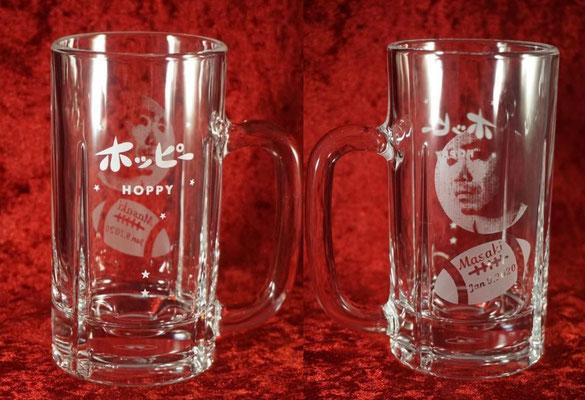 ジョッキ ホッピー  オリジナル グラス 名入れ 名前 ロゴ おしゃれ 格安 ノベルティ 販促 記念品 タンブラー 東京 オンリーワン