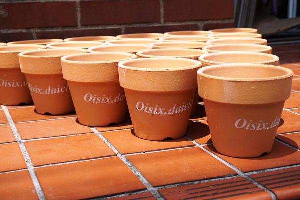 植木鉢 素焼き テラコッタ 陶器 ノベルティ 名入れ ロゴ入れ 製作 格安 記念品 オリジナル 販促 プレゼント
