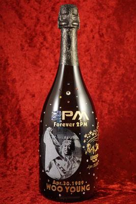 2PM  ドンペリ オリジナル ボトル シャンパン オーダーメイド 写真 ギフト オンリーワン 製作 格安 東京 ワイン ロゴ 名前 オーダー