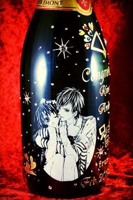 シャンパン マグナム ワイン オリジナル ボトル ロゴ 名前 写真 記念品 ノベルティ サプライズ プレゼント スワロ 格安 製作 東京 オシャレ