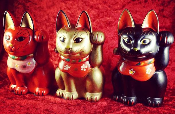 古色三河猫 招き猫 名入れ 縁起物 開運 猫グッズ プレゼント レトロ ギフト かわいい