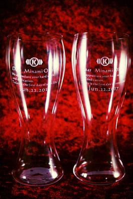 うすはり グラス 名入れ ロゴ入れ オリジナル 格安 オーダーメイド ノベルティ 製作 定年祝い ギフト プレゼント