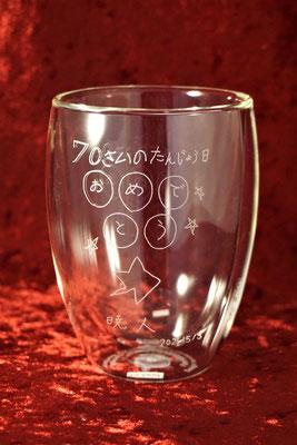 オリジナル グラス ボダム ダブルウォール コップ 名前 名入れ ロゴ おしゃれ 安い 写真 記念品 プレゼント ノベルティ 業務用 店舗用 東京