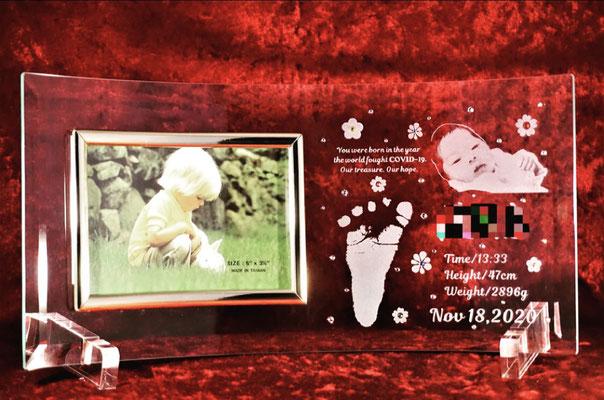 アトリエ・エノン 名入れ 名前 フォトフレーム 出産祝い 結婚祝い 手型 足型 ロゴ 写真 祝 おしゃれ 格安 東京