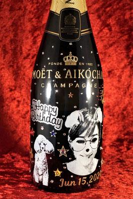 オリシャン シャンパン ワイン 酒 オリジナル ボトル 写真 おしゃれ 格安 スワロフスキー 東京 ノベルティ グッズ 販促 記念品 プレゼント 創業記念