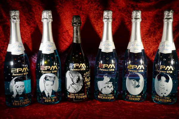 2PM ウヨン ドンペリ オリジナル ボトル シャンパン ワイン  オーダーメイド 写真 ギフト オンリーワン 製作 格安 東京 酒 ロゴ 名前 ノベルティ オーダー