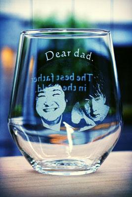 オリジナル グラス オーダーメイド 写真 そのまま ジョッキ プレゼント 格安 世界で1つ 名入れ