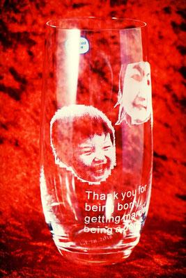 オリジナル グラス タンブラー ロゴ プレゼント 写真 名前 名入れ ノベルティ ビール 格安 東京 記念 ジョッキ ギフト 彫刻