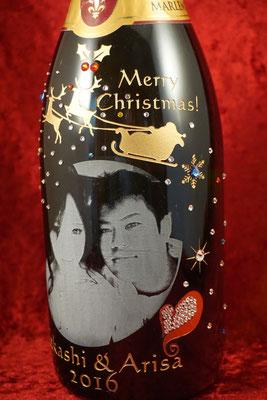 写真  名前 名入れ オリジナル ワイン シャンパン モエ プレゼント おしゃれ 格安 東京 ロゴ ノベルティ 販促 ギフト 酒 ワイン 刻印 彫刻
