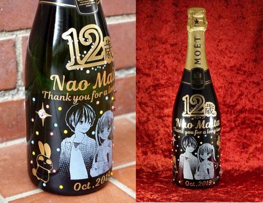 シャンパン ワイン モエ 酒 ボトル オリジナル スワロ ラインストーン オリシャン 名前 名入れ ロゴ 写真 格安 東京 おしゃれ プレゼント オーダーメイド