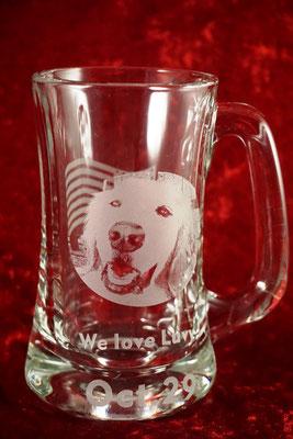 ジョッキ 愛犬 愛猫 写真  記念品 名入れ ロゴ ノベルティ 販促 プレゼント グラス オリジナル 格安 製作 オシャレ 東京 プレゼント