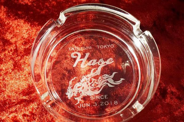 灰皿  グラス オリジナル ロゴ 格安 名入れ 名前 お祝い ギフト ノベルティ 販促 東京 オンリーワン おしゃれ