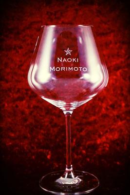 ブルゴーニュ 開店祝い オリジナル ロゴ 名入れ グラス 製作 格安 オーダーメイド お祝い オーダー