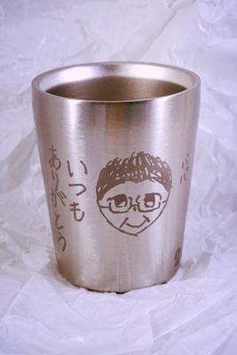 父の日 母の日 プレゼント オリジナル サーモス ステンレス マグ タンブラー 名前 名入れ 写真 イラスト 手描き グラス 敬老の日 世界で一つ 格安 ロゴ東京 かわいい