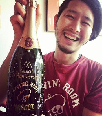 お祝い オリジナルボトル シャンパン マグナムボトル 開店祝い